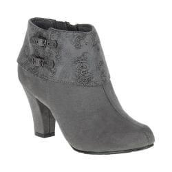 Women's Soft Style Creel Bootie Dark Grey Suede/Dark Grey Paisley