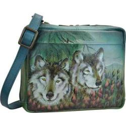 Women's Anuschka Crossbody Travel Organizer Western Wolf