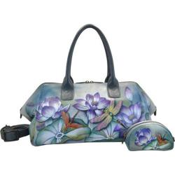 Women's Anuschka Hand Painted Leather Wide Convertible Tote Tranquil Pond
