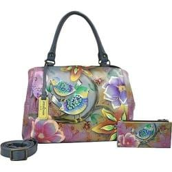 Women's Anuschka Triple Compartment Large Satchel Blissful Birds
