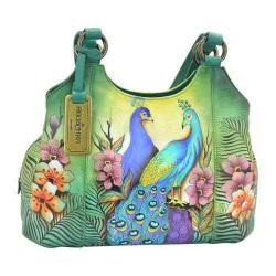 Women's Anuschka Triple Compartment Medium Satchel Passionate Peacocks