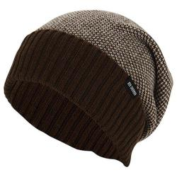 Men's Ben Sherman Birdseye Slouch Beanie Brown Heather