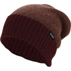 Men's Ben Sherman Birdseye Slouch Beanie Burgundy Heather