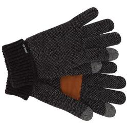 Men's Ben Sherman Birdseye Touch Tek Gloves Black Heather