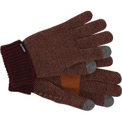 Men's Ben Sherman Birdseye Touch Tek Gloves Burgundy Heather