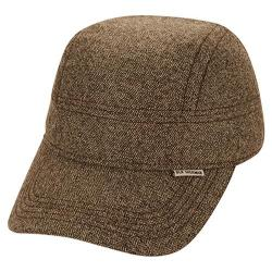 Men's Ben Sherman Textured 4 Panel Baseball Cap Brown