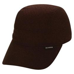 Men's Ben Sherman Textured 4 Panel Baseball Cap Dark Port