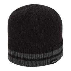 Men's Ben Sherman Tipping Striped Knit Beanie Black Heather