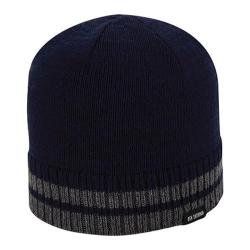 Men's Ben Sherman Tipping Striped Knit Beanie Staples Navy Heather