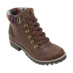 Women's Cliffs by White Mountain Prianna Sweater Knit Hiker Boot Cognac Textile/Sweater