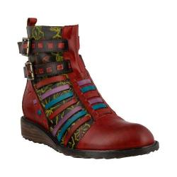 Women's L'Artiste by Spring Step Dasha Bootie Red Multi Leather