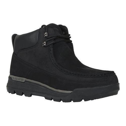 Men's Lugz Breech Wallaby Work Boot Black/Charcoal Durabrush