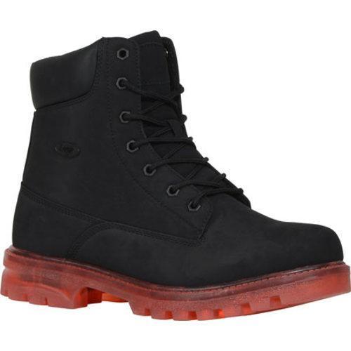 Men's Lugz Empire HI XC Work Boot Black/Red Durabrush