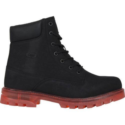 Men's Lugz Empire HI XC Work Boot Black/Red Durabrush - Thumbnail 1