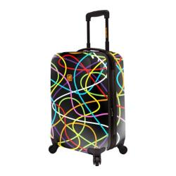 Loudmouth Luggage Black Scribblz 22in Expandable Carry-On Spinner Multicolor/Black