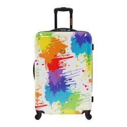 Loudmouth Luggage White Drop Cloth 29in Expandable Spinner Luggage Multicolor/White