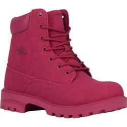 Women's Lugz Empire HI M Work Boot Raspberry Synthetic Suede