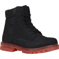 Men's Lugz Empire HI XC Work Boot Black/Red Durabrush
