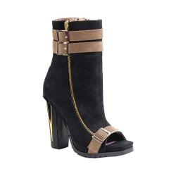 Women's Luichiny For Real Bootie Black/Taupe Suede/Leather