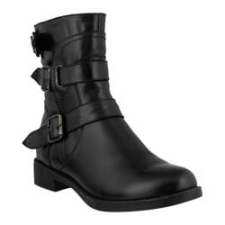 Women's Spring Step Diony Bootie Black Leather