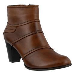 Women's Spring Step Emelda Bootie Brown Leather