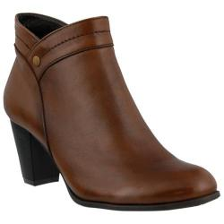 Women's Spring Step Itilia Bootie Brown Leather