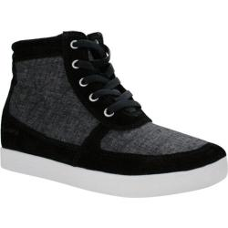 Women's Burnetie Amanda High Top Wedge Sneaker Black Textile/Leather