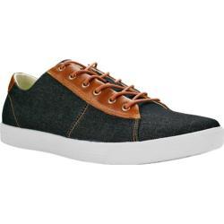 Men's Burnetie Damm Vintage Oxford Sneaker Black Textile/Leather