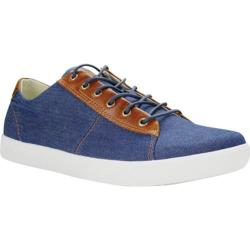 Men's Burnetie Damm Vintage Oxford Sneaker Blue Textile/Leather