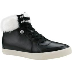 Women's Burnetie Fairburn High Top Sneaker Black Leather