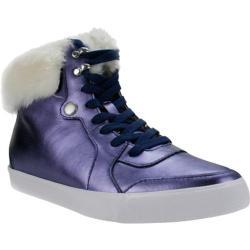Women's Burnetie Fairburn High Top Sneaker Blue Leather