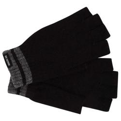 Men's Ben Sherman Tipping Striped Fingerless Knit Gloves Black Heather