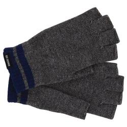 Men's Ben Sherman Tipping Striped Fingerless Knit Gloves Smoked Pearl Heather