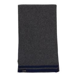 Men's Ben Sherman Tipping Striped Knit Scarf Smoked Pearl Heather
