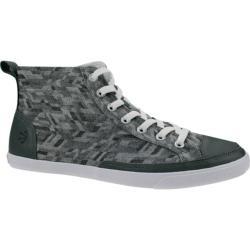 Men's Burnetie High Top Vintage Sneaker 003163 Grey Textile/Leather
