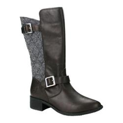 Women's Burnetie Mary Riding Boot Coffee Textile/Leather