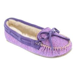 Women's Minnetonka Glitter Cally Slipper Purple Synthetic