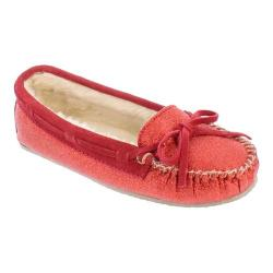 Women's Minnetonka Glitter Cally Slipper Red Synthetic