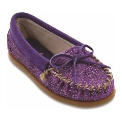 Children's Minnetonka Glitter Moc Purple Glitter