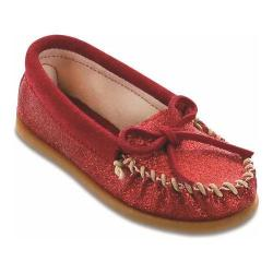 Children's Minnetonka Glitter Moc Red Glitter