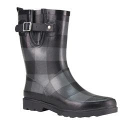 Women's Western Chief Buffalo Gal Mid Rain Boot Charcoal