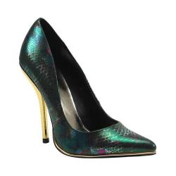 Women's Luichiny Mind Blowing Pump Green Snake Leather