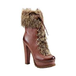 Women's Luichiny Stand By Bootie Dark Brown Polyurethane/Imi Fur