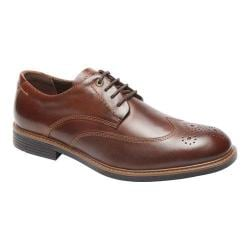 Men's Rockport Classic Break Wingtip Oxford Dark Brown Leather