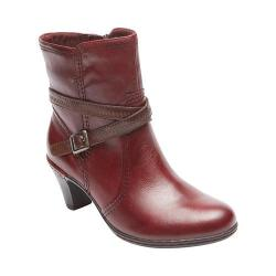 Women's Rockport Cobb Hill Missy Mid Boot Wine Leather