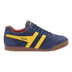 Men's Gola Harrier Suede Sneaker Navy/Sun/Red Suede