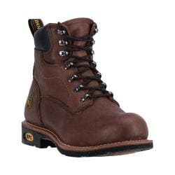 Men's Dan Post Boots Crusher ST Steel Toe Boot DP67381 Walnut Leather