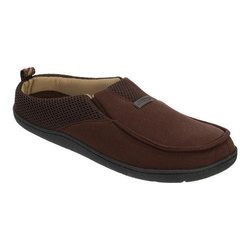 940cf96cdb0 Shop Men s Dearfoams Microsuede Mesh Clog Slipper with Memory Foam Coffee - Free  Shipping On Orders Over  45 - Overstock.com - 12647994