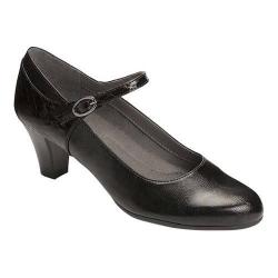 Women's A2 by Aerosoles For Shore Mary Jane Pump Black Snake Faux Leather