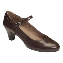 Women's A2 by Aerosoles For Shore Mary Jane Pump Brown Faux Leather